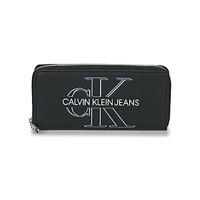 Genti Femei Portofele Calvin Klein Jeans ZIP AROUND GLOW Negru