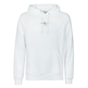 Îmbracaminte Bărbați Hanorace  Calvin Klein Jeans NEW ICONIC ESSENTIAL HOODIE Alb