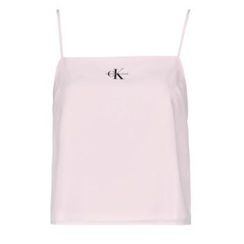 Îmbracaminte Femei Topuri și Bluze Calvin Klein Jeans MONOGRAM CAMI TOP Roz