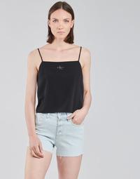 Îmbracaminte Femei Topuri și Bluze Calvin Klein Jeans MONOGRAM CAMI TOP Negru