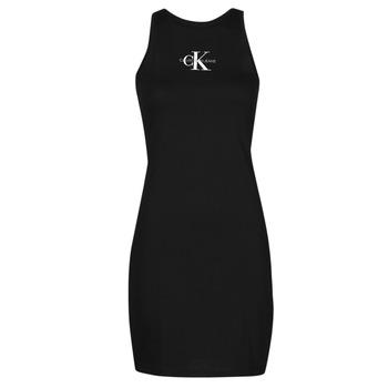 Îmbracaminte Femei Rochii scurte Calvin Klein Jeans MONOGRAM TANK DRESS Negru