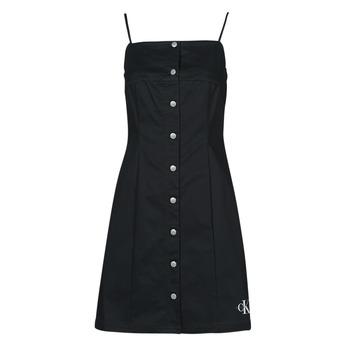 Îmbracaminte Femei Rochii scurte Calvin Klein Jeans COTTON TWILL BUTTON DRESS Negru