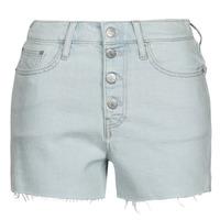Îmbracaminte Femei Pantaloni scurti și Bermuda Calvin Klein Jeans HIGH RISE SHORT Albastru / LuminoasĂ