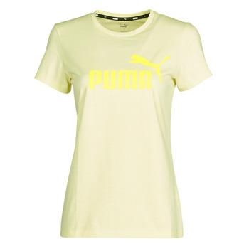 Îmbracaminte Femei Tricouri mânecă scurtă Puma ESS Logo Tee (s) Galben