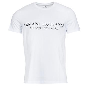 Îmbracaminte Bărbați Tricouri mânecă scurtă Armani Exchange 8NZT72-Z8H4Z Alb