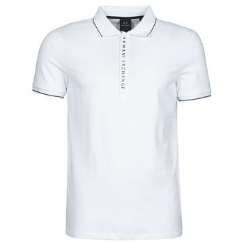 Îmbracaminte Bărbați Tricou Polo mânecă scurtă Armani Exchange 8NZF71-ZJH2Z Alb