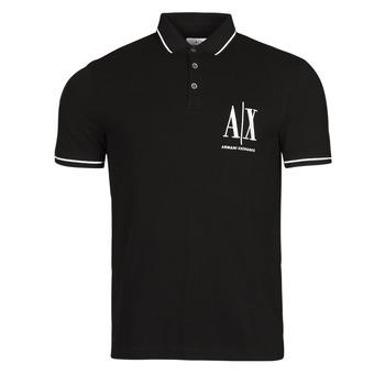 Îmbracaminte Bărbați Tricou Polo mânecă scurtă Armani Exchange 8NZFPA-Z8M5Z Negru