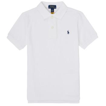 Îmbracaminte Băieți Tricou Polo mânecă scurtă Polo Ralph Lauren MENCHI Alb