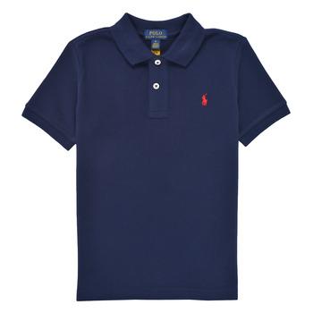 Îmbracaminte Băieți Tricou Polo mânecă scurtă Polo Ralph Lauren MENCHI Albastru