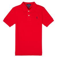 Îmbracaminte Băieți Tricou Polo mânecă scurtă Polo Ralph Lauren MENCHI Roșu
