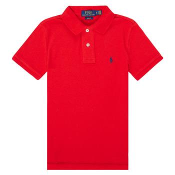 Îmbracaminte Fete Tricou Polo mânecă scurtă Polo Ralph Lauren FRANCHI Roșu