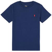 Îmbracaminte Băieți Tricouri mânecă scurtă Polo Ralph Lauren TINNA Albastru