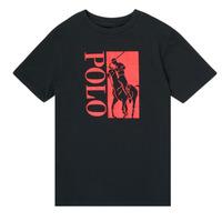 Îmbracaminte Băieți Tricouri mânecă scurtă Polo Ralph Lauren CROPI Negru