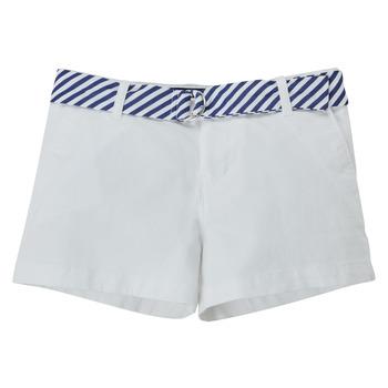 Îmbracaminte Fete Pantaloni scurti și Bermuda Polo Ralph Lauren FILLI Alb