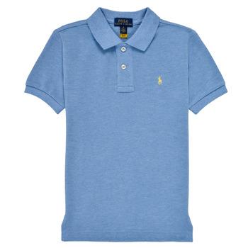 Îmbracaminte Băieți Tricou Polo mânecă scurtă Polo Ralph Lauren BLEUNI Albastru