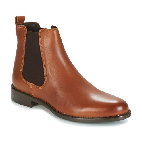 Pantofi Femei Ghete Betty London NORA Camel