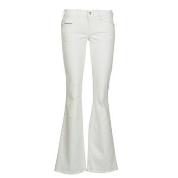 Îmbracaminte Femei Jeans bootcut Diesel D-EBBEY Alb / Prăfuit