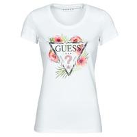Îmbracaminte Femei Tricouri mânecă scurtă Guess SS CN REBECCA TEE Alb / Multicolor