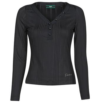 Îmbracaminte Femei Tricouri cu mânecă lungă  Guess LS URSULA TOP Negru