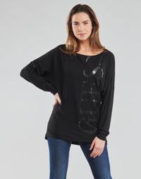 Îmbracaminte Femei Tricouri cu mânecă lungă  Guess LS KAROLINA TEE Negru