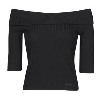 Îmbracaminte Femei Tricouri cu mânecă lungă  Guess DAYNA OFF SHOULDER SWTR Negru