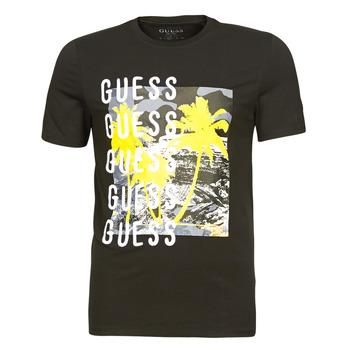 Îmbracaminte Bărbați Tricouri mânecă scurtă Guess CAMUSPACE CN SS TEE Negru / Multicolor