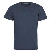 Îmbracaminte Bărbați Tricouri mânecă scurtă Guess LOGO ORGANIC BASIC CN SS TEE Albastru
