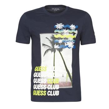 Îmbracaminte Bărbați Tricouri mânecă scurtă Guess GUESS CLUB CN SS TEE Albastru