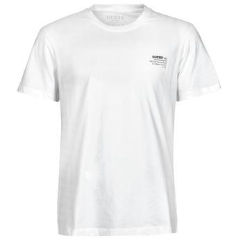 Îmbracaminte Bărbați Tricouri mânecă scurtă Guess ORGANIC BASIC CN SS TEE Alb