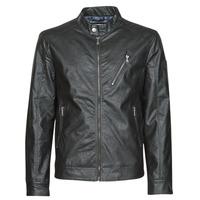 Îmbracaminte Bărbați Jachete din piele și material sintetic Guess ECO LEATER VINTAGE BIKER Negru