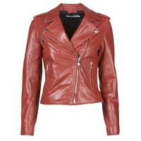 Îmbracaminte Femei Jachete din piele și material sintetic Naf Naf CHACHA P Roșu