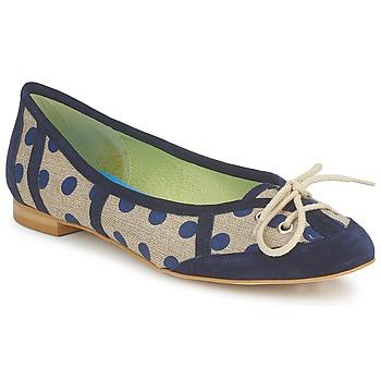 Pantofi Femei Balerin și Balerini cu curea Stephane Gontard KASTOR Bleumarin