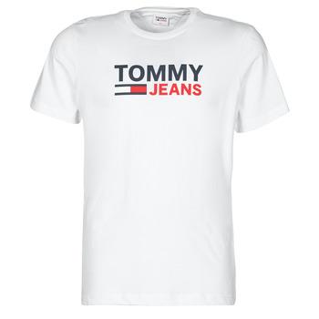 Îmbracaminte Bărbați Tricouri mânecă scurtă Tommy Jeans TJM CORP LOGO TEE Alb