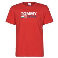 Îmbracaminte Bărbați Tricouri mânecă scurtă Tommy Jeans TJM CORP LOGO TEE Roșu