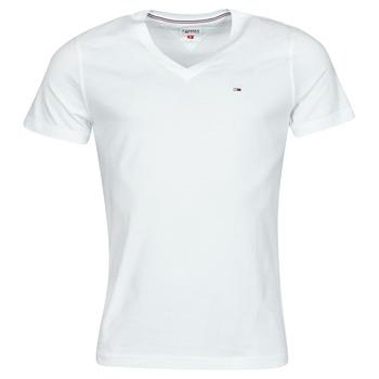 Îmbracaminte Bărbați Tricouri mânecă scurtă Tommy Jeans TJM ORIGINAL JERSEY TEE V NECK Alb