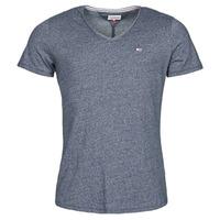 Îmbracaminte Bărbați Tricouri mânecă scurtă Tommy Jeans TJM SLIM JASPE V NECK Albastru