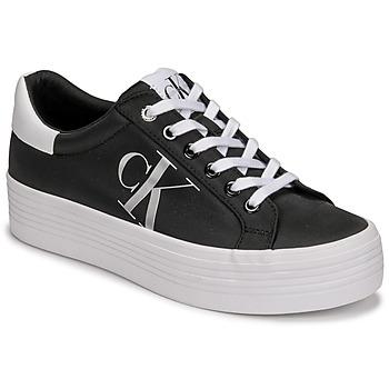 Pantofi Femei Pantofi sport Casual Calvin Klein Jeans VULCANIZED FLATFORM LACEUP NY Negru