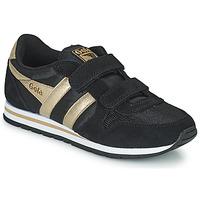 Pantofi Fete Pantofi sport Casual Gola DAYTONA MIRROR VELCRO Negru / Auriu