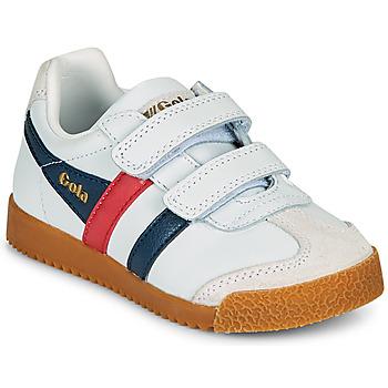 Pantofi Copii Pantofi sport Casual Gola HARRIER LEATHER VELCRO Alb / Albastru / Roșu