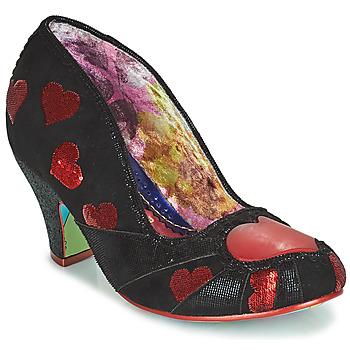 Pantofi Femei Pantofi cu toc Irregular Choice HEART ON YOUR SLEEVE Negru
