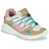 Pantofi Copii Pantofi sport Casual Hummel BOUNCE RUNNER TEX JR Bej / Roz