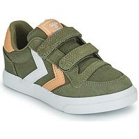 Pantofi Copii Pantofi sport Casual Hummel STADIL LOW JR Verde