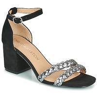 Pantofi Femei Sandale  Karston POMELOS Negru / Argintiu