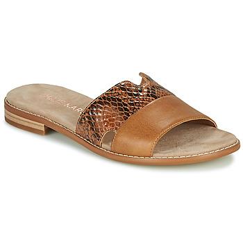 Pantofi Femei Papuci de vară Karston XAPLINA Maro