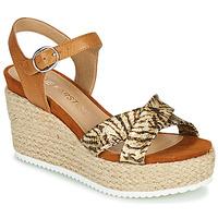Pantofi Femei Sandale  Karston LABON Maro / Auriu