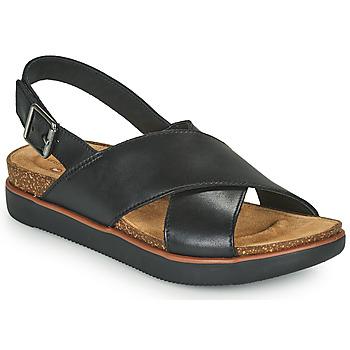 Pantofi Femei Sandale  Clarks ELAYNE CROSS Negru