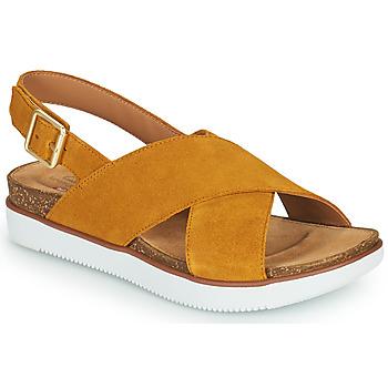 Pantofi Femei Sandale  Clarks ELAYNE CROSS MuȘtar