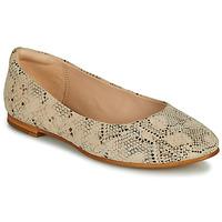 Pantofi Femei Balerin și Balerini cu curea Clarks GRACE PIPER Bej / Piton