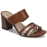 Pantofi Femei Papuci de vară Clarks JOCELYNNE ANDI Maro / Argintiu