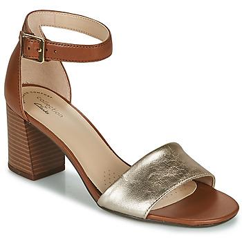 Pantofi Femei Sandale  Clarks JOCELYNNE CAM Maro / Argintiu